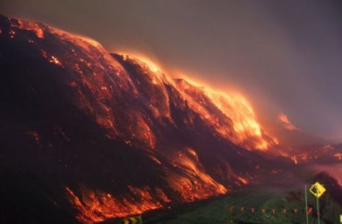 image of coal fire