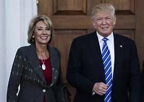 Trump and Betsy DeVos