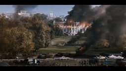 white house on fire