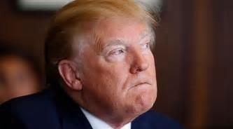 Trump looking like crying